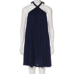 Navy Stella McCartney mini dress with tonal stitch